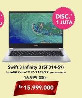 Promo Harga ACER Swift 3 Infinity 3 (SF314-59) Intel Core I7  - Hartono