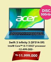 Promo Harga ACER Swift 3 Infinity 3 (SF314-59) Intel Core I5  - Hartono