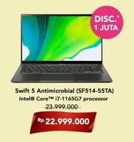 Promo Harga ACER Swift 5 Antimicrobial (SF514-55TA) Intel Core I7  - Hartono