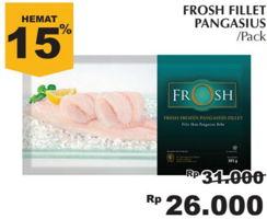 Promo Harga FROSH Fresh Frozen Pangasius Fillet  - Giant