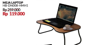Promo Harga COURTS Meja Laptop HB-DN008-HMH1  - Courts