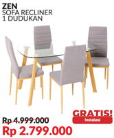 Promo Harga COURTS Stronje Dining Set  - Courts