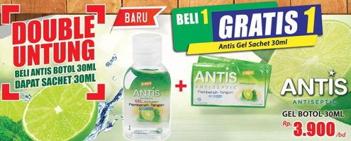 Promo Harga ANTIS Hand Sanitizer 30 ml - Hari Hari