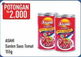 Promo Harga ASAHI Sardines Saus Tomat 155 gr - Hypermart
