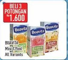 Promo Harga BUAVITA Fresh Juice Mini Orange per 3 tpk 125 ml - Hypermart