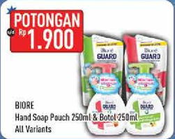 Promo Harga BIORE Hand Soap Antiseptic All Variants 250 ml - Hypermart