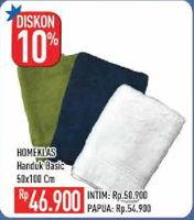 Promo Harga HOMEKLAS Handuk Mandi 50x100  - Hypermart