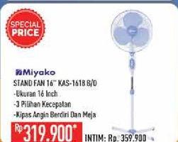 Promo Harga MIYAKO KAS-1618 Stand Fan Blue  - Hypermart