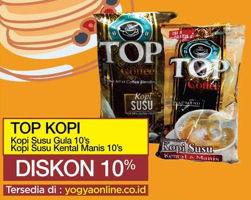 Promo Harga TOP COFFEE Kopi Susu / Kopi Susu Kental Manis 10s  - Yogya