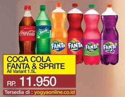 Promo Harga Coca Cola/Fanta/Sprite All Variants 1500 ml - Yogya