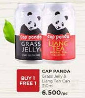 Promo Harga CAP PANDA Cincau Grass Jelly, Liang Tea 310 ml - Watsons