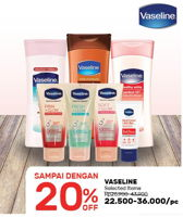 Promo Harga VASELINE VASELINE Product Selected Items  - Guardian