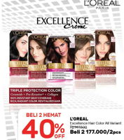 Promo Harga LOREAL Hair Color Excellence per 2 box - Guardian