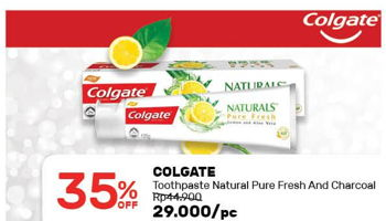 Promo Harga COLGATE Toothpaste Pure Fresh, Natural Charcoal  - Guardian