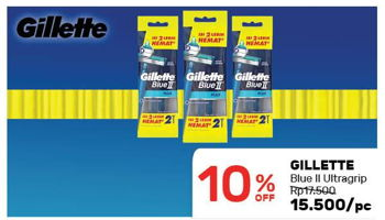 Promo Harga GILLETTE Blue II Ultragrip  - Guardian