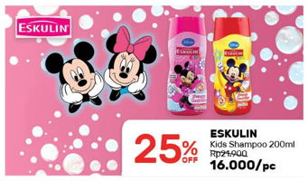 Promo Harga ESKULIN Kids Shampoo 200 ml - Guardian