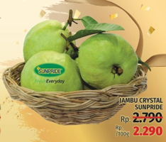 Promo Harga SUNPRIDE Jambu Crystal per 100 gr - LotteMart