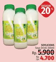 Promo Harga SOYLICIOUS Susu Kacang Kedelai 300 ml - LotteMart