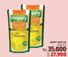 Promo Harga HAPPY Soya Oil 1000 ml - LotteMart