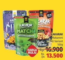 Promo Harga KAKARAK Makaroni All Variants 100 gr - LotteMart