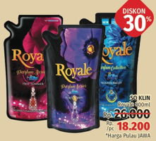 Promo Harga SO KLIN Royale Parfum Collection 800 ml - LotteMart