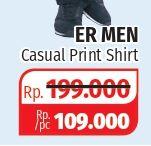 Promo Harga ER MEN Shirt Casual Print  - Lotte Grosir
