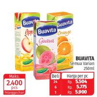 Promo Harga BUAVITA Fresh Juice All Variants 250 ml - Lotte Grosir