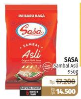 Promo Harga SASA Sambal Asli 950 gr - Lotte Grosir
