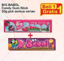 Promo Harga BIG BABOL Candy Gum All Variants 20 gr - Indomaret