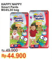 Promo Harga HAPPY NAPPY Smart Pantz Diaper M34, L30  - Indomaret