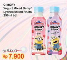 Promo Harga CIMORY Minuman Yogurt Mixed Berry, Lychee, Mixed Fruit 250 ml - Indomaret