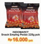 INDOMARET Snack Emping Manis Pedas 225 gr Harga Promo Rp16.000, Tambah Rp.5.000 dapat 2pcs.