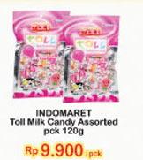 TOLL Candy Milk Assorted 120 gr Harga Promo Rp9.900, Tambah Rp.2.000 dapat 2pcs.