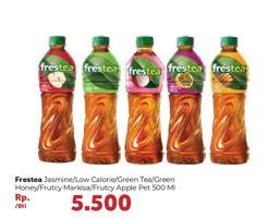 Promo Harga FRESTEA Minuman Teh Jasmine, Green, Green Honey, Markisa, Apel 500 ml - Carrefour
