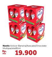 Promo Harga NESTLE Acticor Banana, Avocado, Chocolate per 4 botol 85 ml - Carrefour