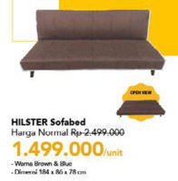 Promo Harga HILSTER Sofabed  - Carrefour