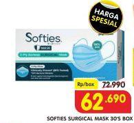 Promo Harga SOFTIES Masker Surgical 30 pcs - Superindo