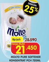 Promo Harga MOLTO Softener Ultra Pure 720 ml - Superindo