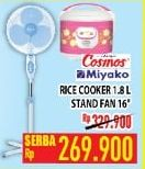 "Promo Harga COSMOS COSMOS/MIYAKO Kipas Angin 16""/Rice Cooker 1800ml  - Hypermart"