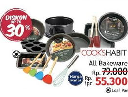 Promo Harga COOKS HABIT COOKS HABIT All Bakeware  - LotteMart