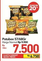 Promo Harga POTABEE Potabee Snack Potato Chips 68 / 57 gr  - Carrefour