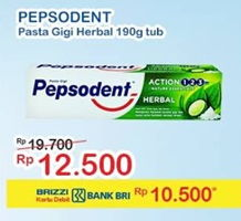 Promo Harga PEPSODENT Toothpaste Herbal 190 gr - Indomaret