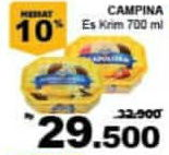 Promo Harga CAMPINA Ice Cream 700 ml - Giant