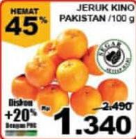 Promo Harga Jeruk Kino Pakistan per 100 gr - Giant