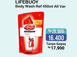 Promo Harga LIFEBUOY Body Wash All Variants 450 ml - Alfamart