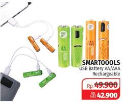 Promo Harga SMARTOOOLS MicroUSB Rechargeable Battery AA, AAA  - Lotte Grosir