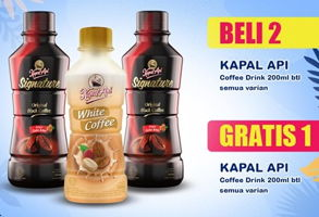 Promo Harga KAPAL API Kopi Signature Drink All Variants 200 ml - Indomaret