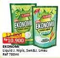 Promo Harga EKONOMI Pencuci Piring Power Liquid Jeruk Nipis, Siwak 780 ml - Alfamart