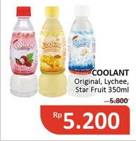 Promo Harga COOLANT Minuman Penyegar Original, Lychee, Star Fruit 350 ml - Alfamidi