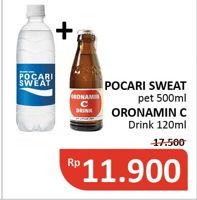 Promo Harga POCARI SWEAT POCARI SWEAT Minuman Isotonik/ORONAMIN C Drink  - Alfamidi